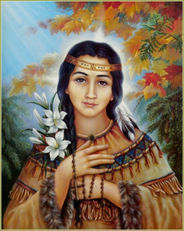 Before Disney's Pocohantas, there was Kateri.