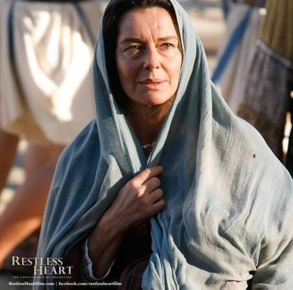 Saint Monica portrayed by actress Monica Guerritore in Restless Heart.