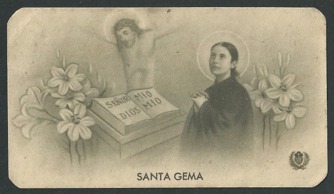 Saint Gemma Galgani with Jesus (2)